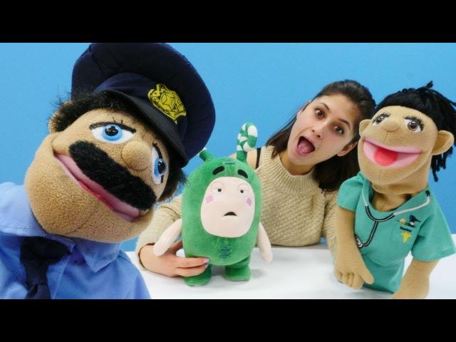 Ayşe ve Oddbods Zee Polis ve doktor oyuncakları
