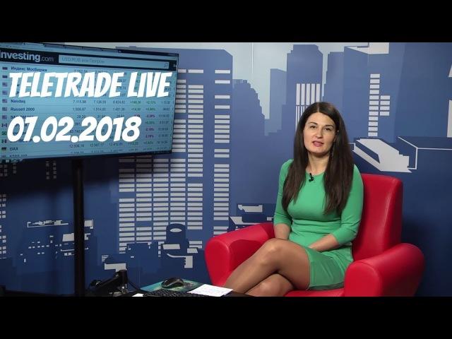 Teletrade Live c Анастасией Игнатенко 7.02.2018