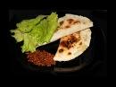 Кутабы с чечевицей и зеленью постное блюдо