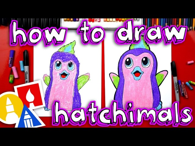 Kids' English | How To Draw Hatchimals Penguala Plus We Hatch A Real One!