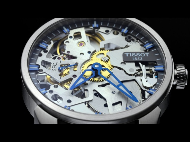 Tissot T - Complication Squelette unboxing and closeup footage 4K