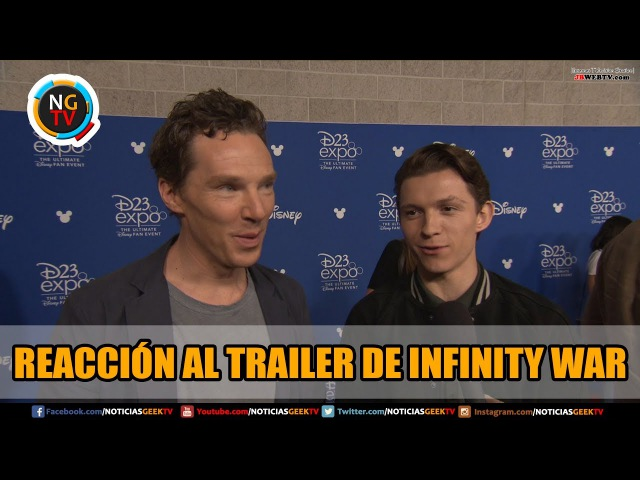 Avengers Reaccionan al Trailer de Infinity War en D23 Expo