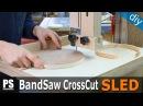 Band Saw Cross Cut Sled Circle Jig 2 in 1