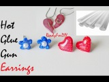 DIY Hot Glue Gun Earrings &amp Lockets - Valentine's Day Gifts