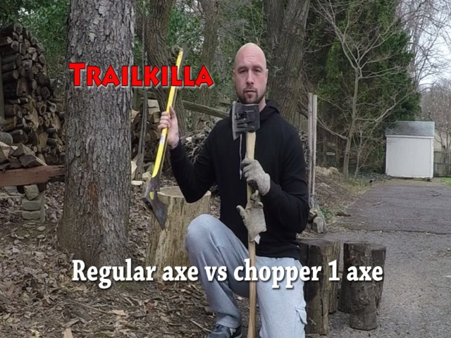 Regular axe vs chopper 1 axe