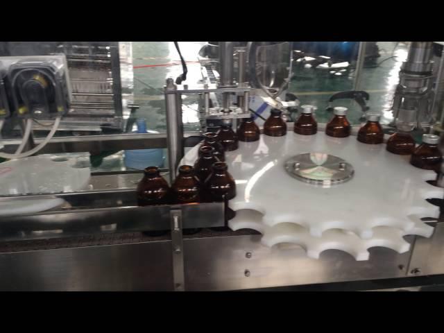 Линяя розлива-укупорки-закатки-этикетировки флакона