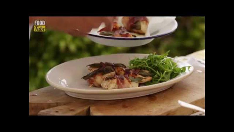 Куриные кусочки с шалфеем и беконом от Дженнаро Контальдо
