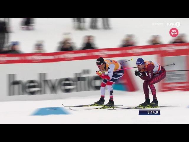 Йоханнес Клэбо vs Сергей Устюгов vs Александр Большунов - Финал спринта - Лиллехаммер 2017