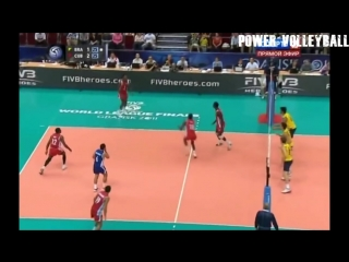 Volleyball Spikes Under The Net. Funny Volleyball (HD)