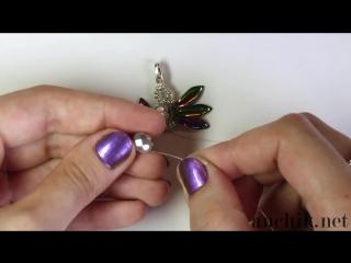 Tutorial- beaded bracelet 'Exotica' using DAGGER beads - Легкий браслет из бисера 'Экзотика'.mp4