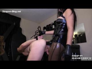 Big, black femdom cock! - strap-on slaughterhouse