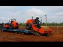 Грунтовые дорожные катки Hamm 3414 с гладким и кулачковым вальцами перевозка на одном трале