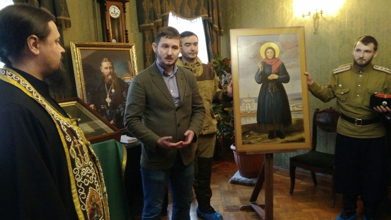 В Мемориальной Квартире св.Иоанна Кронштадтского состоялась передача иконы св.Новомученицы Параскевы Кульдурской