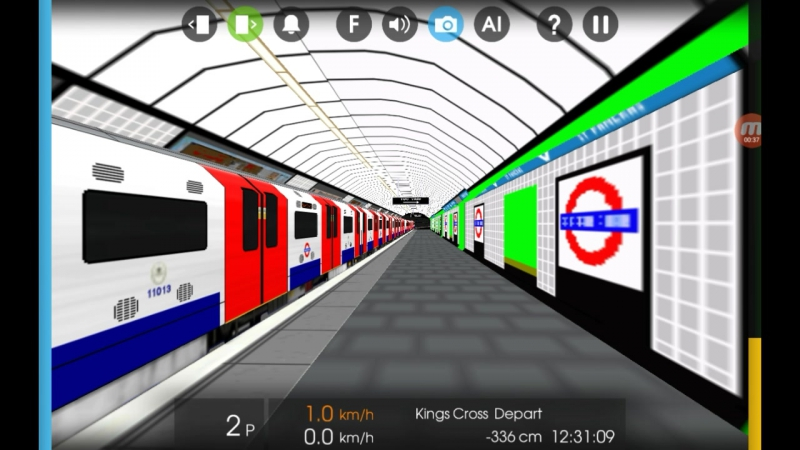 Hmmsim 2 London Underground Victoria Line King's Cross St. Pancras