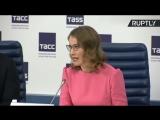 Кандидат в президенты России Ксения Собчак проводит пресс-конференцию
