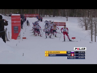Klaebo secures first career Overall globe as Bolshunov grabs victory in Falun pursuit Highlights