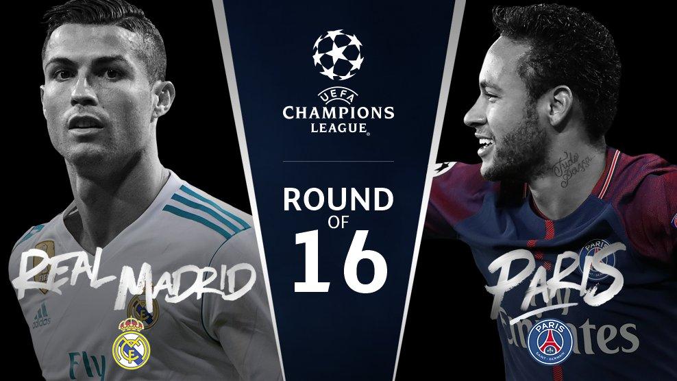 """Мадрид против Парижа. """"Челси"""" против """"Барселоны"""". Итоги жеребьевки 1/8 финала Лиги чемпионов."""