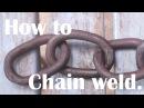 Blacksmithing basics for beginners Forge welded chain.