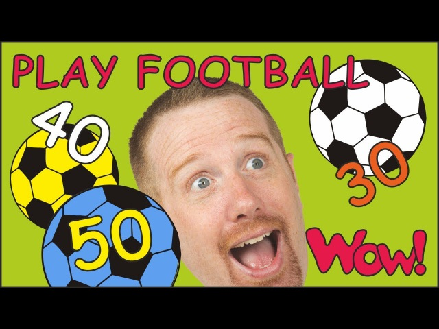 Play Football Numbers for Children NEW | English Story with Steve and Maggie | Wow English TV