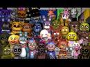 SFM FNAF Reaction Animatronics On FNAF World Trailer