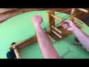 Inkle Weaving - How to make heddles warp the loom