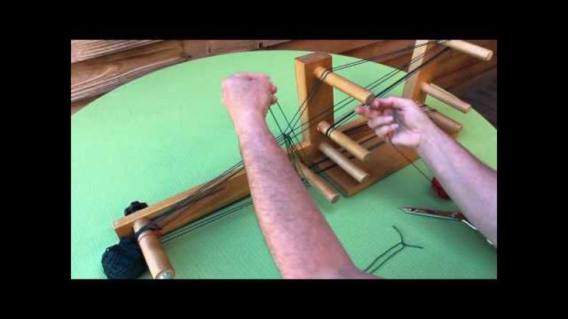 Inkle Weaving - How to make heddles warp the loom