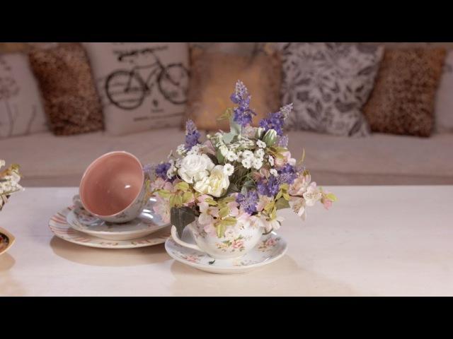 Teacup Floral Arrangment Floristry Tutorial