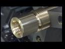 Superfast CNC Automatic lathe Machine hand performing.