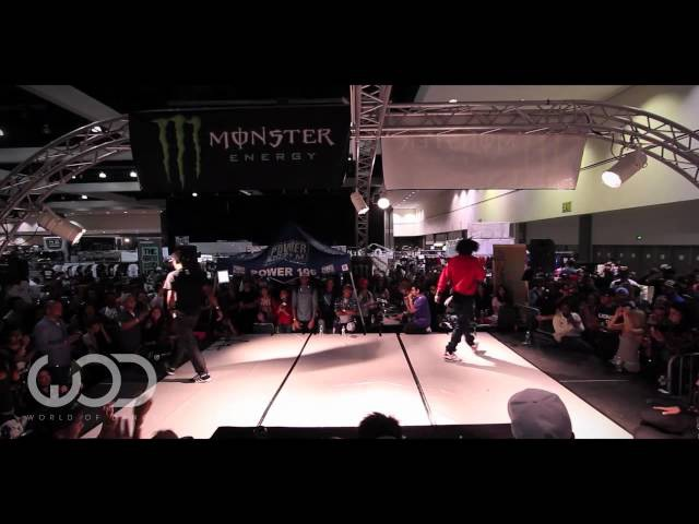 Les Twins Laurent vs Outrage : World of Dance LA 2012 Allstyles Battle