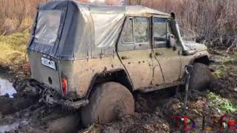 В поисках осенней грязи УАЗ,Нива,Pajero и буханочка