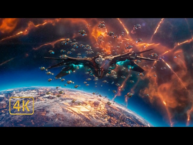 Флот Суверенов атакует корабль Стражей Галактики. Битва в космосе. Часть 1. Страж...