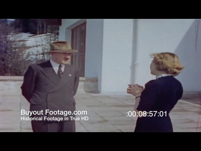 Адольф Гитлер и Ева Браун - Орлиное Гнездо, Берхтесгаден, HD в цвете