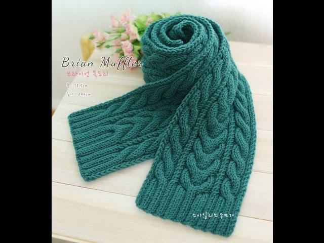 [Knit Scart] Hướng dẫn đan khăn kiểu 3