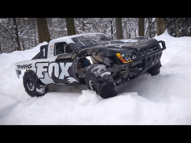 Traxxas Slash 4x4 Тест по Снегу на Лопатках Pro-Line Sling Shot