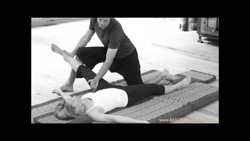 Thai Yoga Bodywork 1st Therapeutic Techniques Supine w Michael Sitzer