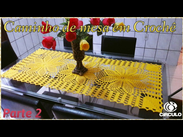 🌼 Caminho de mesa em Crochê 22 . Tutorial Por Vanessa Marcondes.