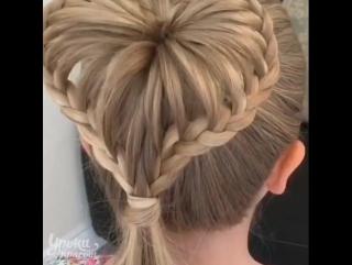 Чудесная причёска для малышки! Как тебе?