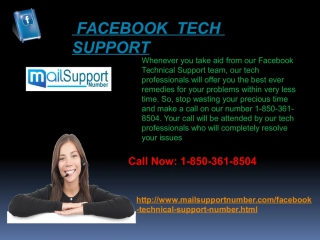 How to Get In Touch With Facebook Tech Support 1-850-361-8504?
