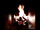 Сегодня, в такую холодную погоду, хочется устроиться у жаркого камина, пить чай и слушать... * #осень #вечер #камин #новосибирск