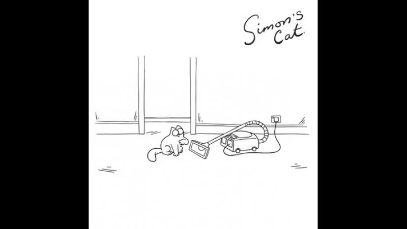 Кот Саймона и пылесос.