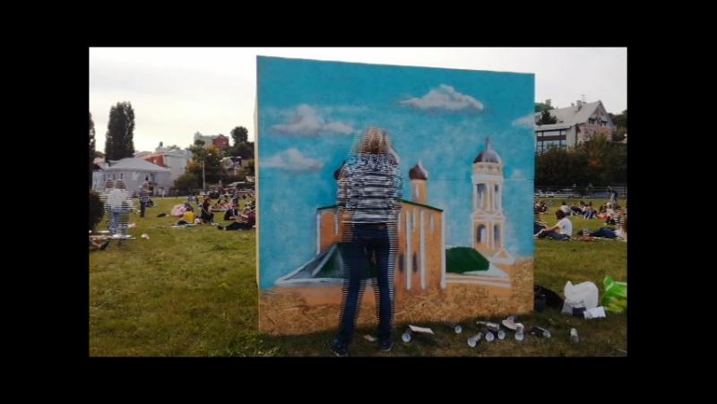 АртСфера .Рисуем церковь на общегородском одновременном пленэре в Воронеже