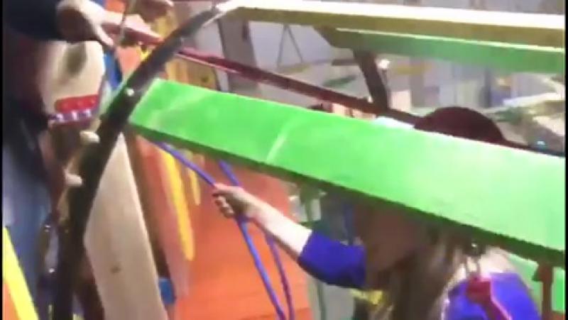 первые испытатели веревочного городка ХЭММИЛЭНД