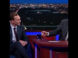 Tom Hiddles Is My Suger Daddy on Instagram Here are two of my many favourite people in the world! #TomHiddleston and #StephenColbert singing #Isa...