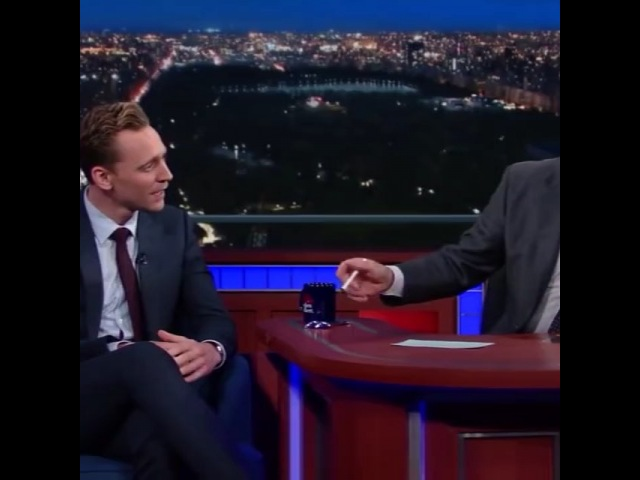 "Tom Hiddles Is My Suger Daddy on Instagram: ""Here are two of my many favourite people in the world! TomHiddleston and StephenColbert singing Isa..."