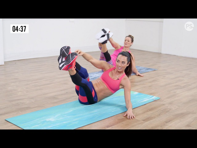 Autumn Calabrese - 10-Minute Fast and Furious Flat-Belly Workout | Отумн Калабрес - Тренировка живота на полу