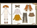 Learn name of clothes with paper doll, English Game for kids