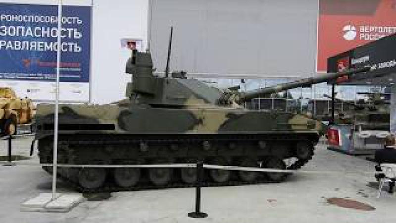 Истребитель танков Спрут и бронетранспортёр БТ-3Ф.