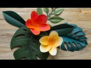 How To Make A Paper Tropical Flower - Plumeria