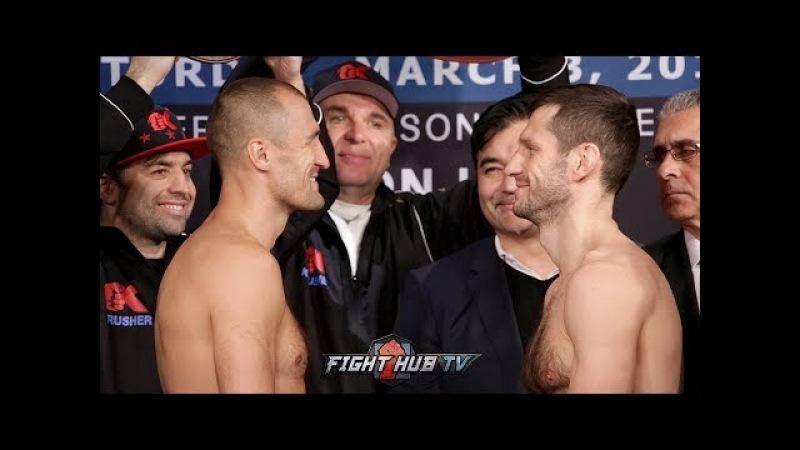 SERGEY KOVALEV VS. IGOR MIKHALKIN - FULL WEIGH IN FACE OFF VIDEO