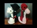 Котопарочка! Валентинка. ч.2. Cat couple! Valentine's Day.р.2. Amigurumi. Амигуруми.